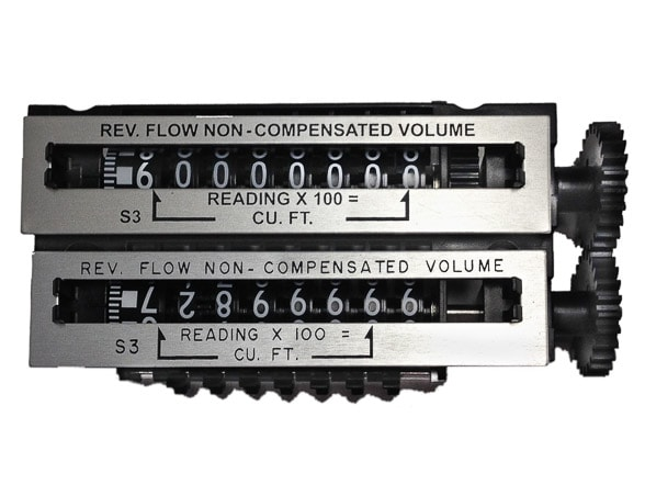 Roots Reverse Flow Counter Odometer